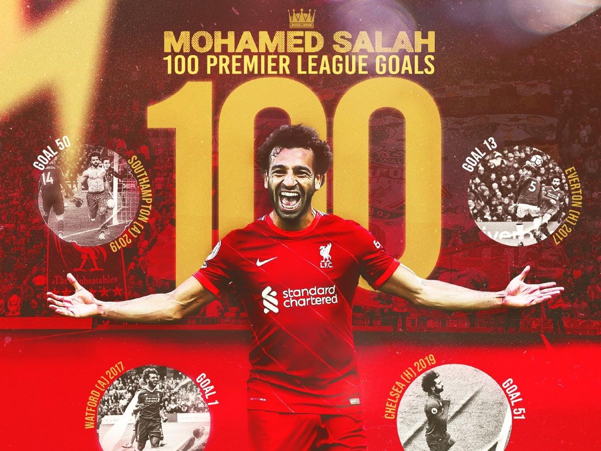 Ο Σαλάχ μπήκε επίσημα στο κλειστό club των 100άρηδων της Λίβερπουλ στην Premier League!