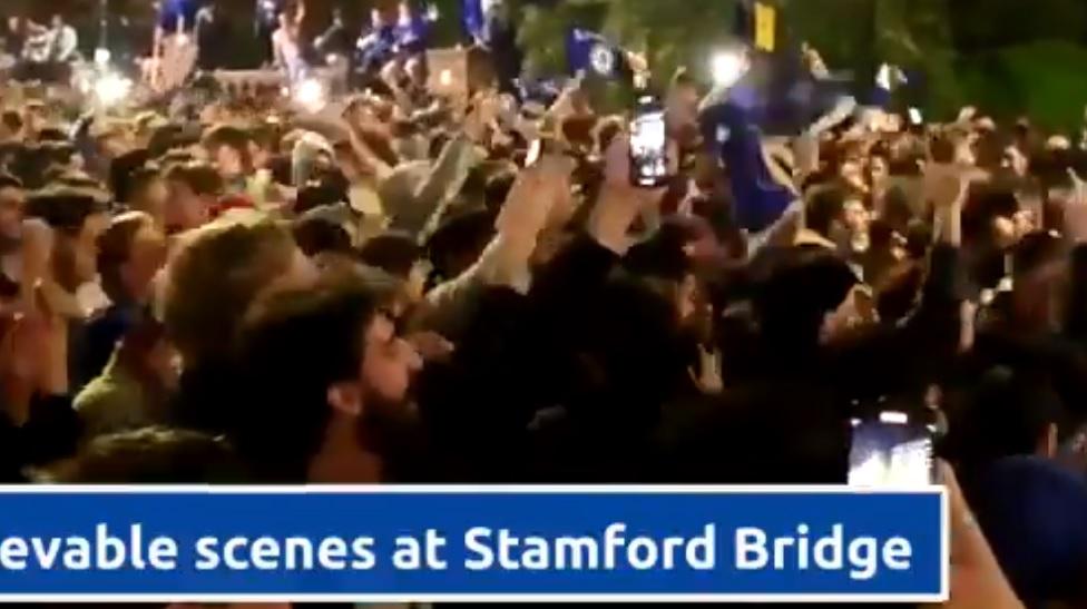 Χαμός έξω από το «Στάμφορντ Μπριτζ» για το ευρωπαϊκό (vid)
