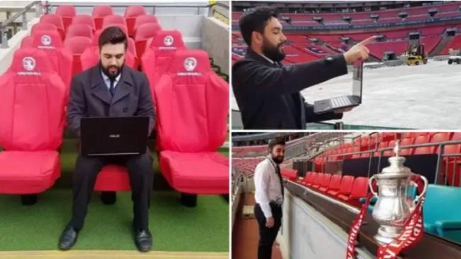 Πήρε το λάπτοπ και πήγε να παίξει τον τελικό του Κυπέλλου στο Football Manager... στο Γουέμπλεϊ!