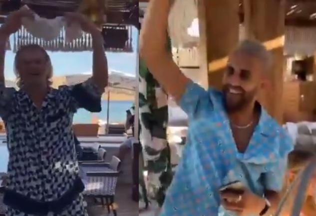 Χάαλαντ και Μαχρέζ παρτάρουν παρέα στη Μύκονο! (vid)